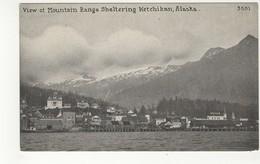 KETCHIKAN, Alaska, USA, Harbor & Mountain Range, Pre-1920 PNC Postcard - United States