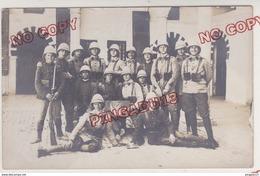 Au Plus Rapide Carte Photo Caserne Saussier Tunis Tunisie 4 ème Régiment De Zouaves Zouave 1927-1928 - Régiments