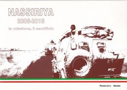 NASSIRIYA LA MISSIONE E IL SACRIFICIO FOLDER FILATELICO CON DUE BUSTE 2016 - 1946-.. République