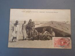Cpa  Afrique Occidentale Mauritanie Campement Maure.1912 - Mauritania
