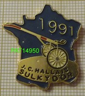 SULKY  D'OR 1991 JC HALLAIS  Carte De FRANCE   PMU   COURSES HIPPIQUES - Games