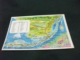 CARTA GEOGRAFICA  MAP OF THE FLORIDA KEYS U.S.A. - Carte Geografiche