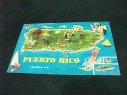 CARTA GEOGRAFICA  MAP OF THE PUERTO RICO SCI NAUTICO DONNA U.S.A. - Carte Geografiche