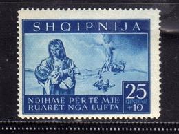 ALBANIA OCCUPAZIONE TEDESCA GERMAN OCCUPATION 1944 PRO SINISTRATI 25Q+10Q MNH - Occ. Allemande: Albanie