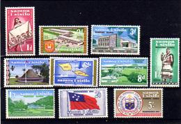 1962   Samoa, Indépendance, 164 / 173**, Cote 15 €, - Samoa