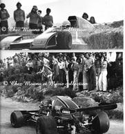 DENIS RUA - PILOTE MARSEILLAIS COURSES AUTOMOBILES - ANNEES 1970 - BOUCHES DU RHONE - LOT DE 2 PHOTOS ARLES 24 X 18.5 CM - Métiers