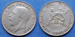 UK - Silver Shilling 1921 KM# 816a George V (1910-1936) - Edelweiss Coins - 1902-1971 : Post-Victorian Coins