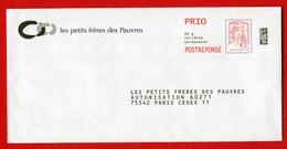 N° 101 - Prêt à Poster - Réponse PRIO - PAP - Marianne Ciappa-Kavena - Les Petits Frères Des Pauvres - N° Lot : 181697 - Entiers Postaux