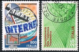 ITALIA / ITALY - TELECOMUNICAZIONI / TELECOMMUNICATIONS - LOTTO DI FRANCOBOLLI / LOT OF STAMPS - USATO / USED - Informatica