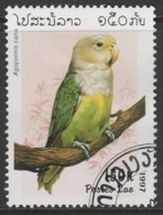 Laos 1997 Lovebirds 150 K Multicoloured SW 1570 O Used - Laos