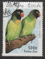Laos 1997 Lovebirds 500 K Multicoloured SW 1573 O Used - Laos