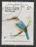 Laos 1988 Birds  6 K Multicoloured SW 1112 O Used - Laos