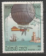 Laos 1983 The 200th Anniversary Of Manned Flight - Balloons 1.00 K Multicoloured SW 648 O Used - Laos