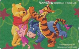 Télécarte NEUVE Japon / 110-209517 - DISNEY Enterprises - WINNIE POOH Tigre Tiger Ane Cochon Pig - Japan MINT Phonecard - Disney