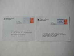Prêt à Poster Réponse, Postreponse Lettre Prioritaire, Lamouche, 2 Enveloppes Neuves, TB. - Entiers Postaux
