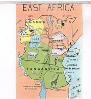 CARTE GEOGRAPHIQUE  KENYA TANGANYKA - Kenya
