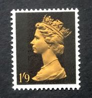 GB QEII 1967 SG744 1/-9d Dull Orange & Black  Mint Never Hinged. - 1952-.... (Elizabeth II)