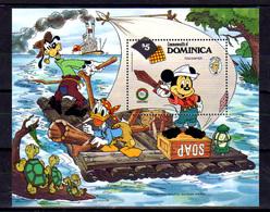 1985   Dominique 1985, 150° De Mark Twain, Mickey Pirate, Bf 103**, Cote 12 €, - Disney