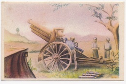 CPA ESPAGNE ILLUSTRATION Posicion Artillera - Espagne