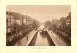 GRAVURE PARIS LE CANAL SAINT MARTIN   FORMAT 29 X 20 CM - Estampes & Gravures