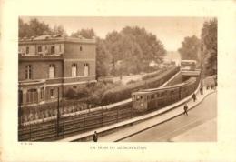 GRAVURE PARIS UN TRAIN DU METROPOLITAIN  FORMAT 29 X 20 CM - Estampes & Gravures