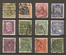 Allemagne - PERFINS - PERFORES - Petit Lot De 12° - Stamps