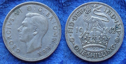 UK - Silver 1 Shilling 1942 KM# 853  George VI (1936-1952) - Edelweiss Coins - 1902-1971 : Post-Victorian Coins