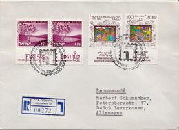Postal History: Izrael R Cover With Set - Philatelic Exhibitions