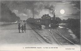 SAINTE-HERMINE --La Gare Au Clair De Lune - Andere Gemeenten