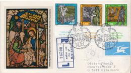 Postal History: Izrael R Cover With Set - Christmas