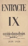 """Revue ENTR'ACTE - Juin 1928 - Comédie Des Champs-Elysées - Théâtre Louis JOUVET -  """"SIEGFRIED"""" De J. GIRAUDOUX - Auteurs Français"""