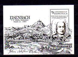Dominica 1985, Tri-centenaire De J-S. BACH Compositeur Né A Eisenbach, Bf 101 **, Cote 11 €, - Music