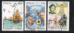 1992 - ITALIA / ITALY - CELEBRAZIONI COLOMBIANE / COLOMBIAN CELEBR.- LOTTO DI FRANCOBOLLI / LOT OF STAMPS - USATO / USED - Christophe Colomb