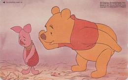 Télécarte NEUVE Japon / 110-211343 - DISNEY - WINNIE POOH COLLECTION & Cochon Pig - Japan MINT Phonecard - Disney