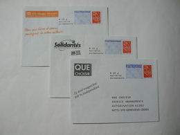 Prêt à Poster Réponse, Postreponse Lettre Prioritaire, Lamouche, 3 Enveloppes Neuves, TB. - Entiers Postaux