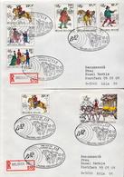 Postal History: Belgium 2 R Covers With Belgica Cancel - Philatelic Exhibitions