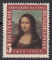 Germania 1952 Sc. 687 Gioconda Monna Lisa Quadro Dipinto Da Leonardo Da Vinci MNH Paintings - [7] Federal Republic