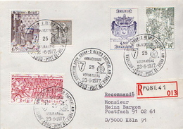 Postal History: Belgium R Cover With Military Cancel - Militaria