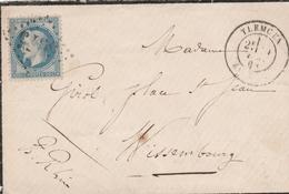 Algérie - Tlemcem GC  + T17 1868 (dvt) - Marcophilie (Lettres)