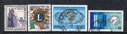 ITALIA / ITALY - ORGANIZZAZIONI MONDIALI / WORLD ORGANIZATIONS - LOTTO DI FRANCOBOLLI / LOT OF STAMPS - USATO / USED - Rotary, Lions Club