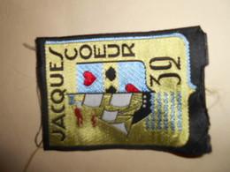 Insigne Tissu Chantiers De Jeunesse 32 Rare Premier Type Cjf Vichy Petain - 1939-45