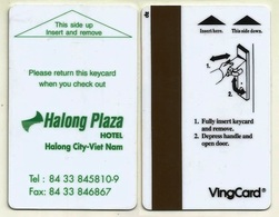 VIETNAM Hotelkarte Keycard Vom Halong Plaza Hotel In Halong City - Hotelkarten