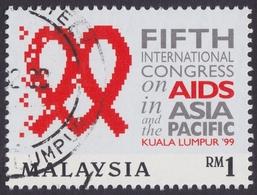 MALAYSIA 1999 5th International Congress On AIDS  RM1 CTO @E3246 - Malaysia (1964-...)