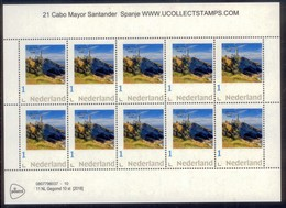 Nederland   2018  Vuurtoren 21 Cabo Mayor Spanje   Lighthouse, Pharos, Leuchturm VEL-SHEETLET  Postfris/mnh/neuf - Period 1980-... (Beatrix)