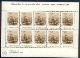 Nederland 2018 Vuurtoren 23 Pier Sunderland Gr Britain 1842 Ship Lighthouse,leuchturm VEL SHEETLET  Postfris/mnh/neuf - Period 1980-... (Beatrix)