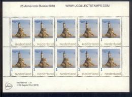 Nederland 2018 Vuurtoren 25 Anivo Rock Rusland Lighthouse ,leuchturm  VEL SHEETLET  Postfris/mnh/neuf - Period 1980-... (Beatrix)