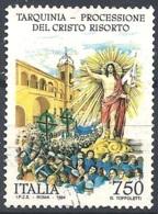 Italia, 1994 Processione Del Cristo Risorto, 750L # Sassone 2098 - Michel 2318 - Scott 1971  USATO - 1946-.. République
