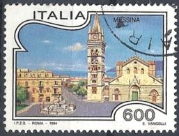 Italia, 1994 Messina, 600L # Sassone 2100 - Michel 2323 - Scott 1974  USATO - 1946-.. République