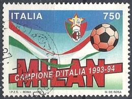 Italia, 1994 Milan Campione D'Italia, 750L # Sassone 2105 - Michel 2327 - Scott 1980  USATO - 1946-.. République