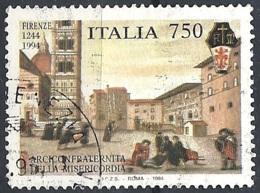 Italia, 1994 Confraternita Della Misericordia, 750L # Sassone 2116 - Michel 2336 - Scott 1989  USATO - 1946-.. République